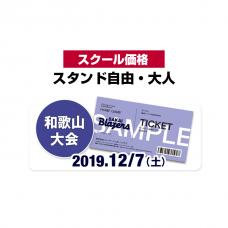 【スクール価格】スタンド自由チケット・大人(和歌山大会)